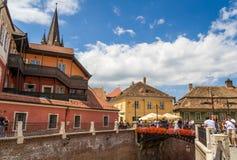 Stad van Sibiu, Roemenië Royalty-vrije Stock Afbeeldingen
