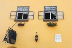 Stad van Sighisoara, Roemeense reisbestemming stock foto's