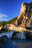 Stad van Sisteron in de Provence Frankrijk Royalty-vrije Stock Foto's