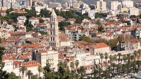 Stad van Spleet, Kroatië stock videobeelden