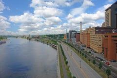 Stad van St. Paul door rivier Stock Foto's