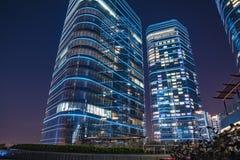 Stad van Suzhou bij nacht royalty-vrije stock afbeelding
