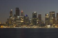Stad van Sydney bij nacht Stock Fotografie