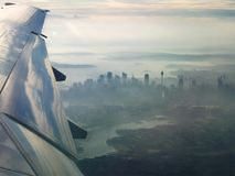 Stad van Sydney van lucht stock foto's