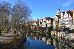 Stad van Tübingen stock afbeeldingen