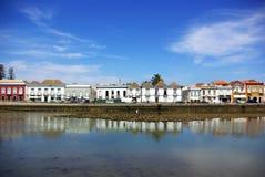 Stad van Tavira, Portugal. Stock Foto's