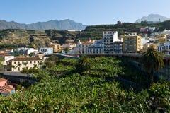 Stad van Tazacorte, het eiland van La Palma Stock Afbeeldingen