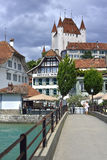 Stad van Thun, Zwitserland Royalty-vrije Stock Foto