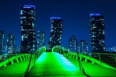 Stad van Toekomstige Songdo royalty-vrije stock foto's