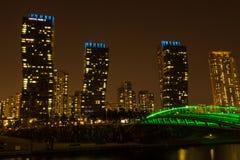 Stad van Toekomstige Songdo stock afbeeldingen