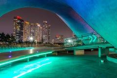 Stad van Toekomstige Songdo royalty-vrije stock foto