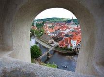 Stad van Tsjechische Krumlov Stock Foto's