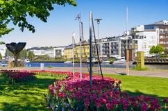 Stad van Turku Finland Stock Afbeeldingen