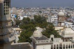 Stad van Udaipur van het stadspaleis royalty-vrije stock fotografie