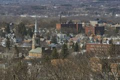 Stad van Utica, Upstate New York stock foto's