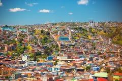 Stad van Valparaiso, Chili Stock Foto's