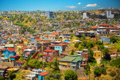 Stad van Valparaiso, Chili Royalty-vrije Stock Foto's
