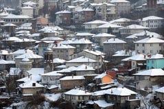 Stad van Veliko Tarnovo in de Winter Royalty-vrije Stock Afbeeldingen