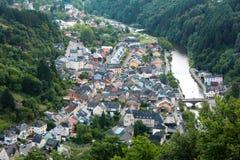 Stad van Vianden, Luxemburg Royalty-vrije Stock Fotografie
