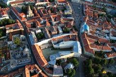 Stad van Vilnius Litouwen, luchtmening Royalty-vrije Stock Fotografie