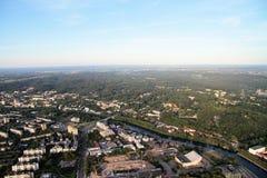 Stad van Vilnius Litouwen, luchtmening Stock Afbeelding