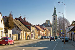 Stad van Virovitica straatmening Royalty-vrije Stock Fotografie