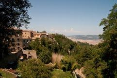 Stad van Volterra Toscanië Italië Stock Foto's