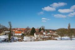 Stad van Vordingborg in Denemarken Royalty-vrije Stock Foto's