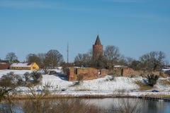 Stad van Vordingborg in Denemarken Stock Foto's