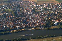 Stad vanaf de bovenkant stock afbeeldingen