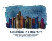 Stad Vector illustratie Stock Foto