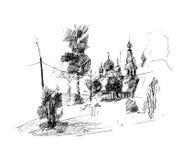 Stad, vectorillustratie Royalty-vrije Stock Foto's