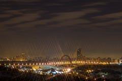 Stad vid natt, i nattMoskva Royaltyfria Bilder
