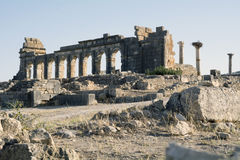 Stad Volubilis för romersk välde i Marocko, Afrika Royaltyfri Fotografi