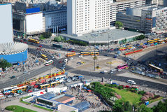 stad warsaw Arkivfoto