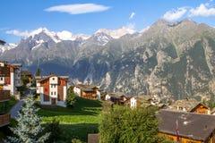 Stad Zermatt royalty-vrije stock fotografie