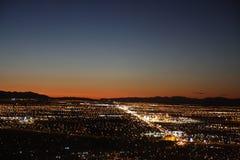 Stad-zonsondergang Royalty-vrije Stock Afbeeldingen