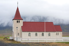 Stadastadarkirkja, μια από τις πολλές ισλανδικές εκκλησίες Στοκ Εικόνα