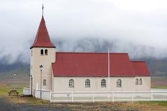 Stadastadarkirkja, una delle molte chiese islandesi Immagine Stock
