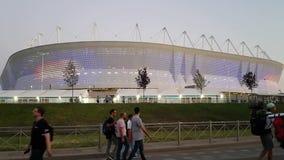 Stade ? Rostov-On-Don pendant la coupe du monde Illumination color?e du stade apr?s l'Uruguay-Saoudien Arabie de match banque de vidéos