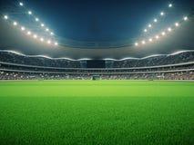 Stade avec des fans la nuit avant le match rendu 3d Image libre de droits