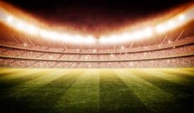 Stade avec le poteau 3d de but Image stock