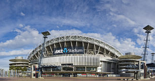 Stade d'ANZ au stationnement olympique de Sydney Images stock