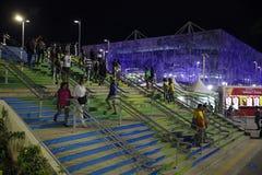 Stade d'aquatics du jeu 2016 du Brésil - du Rio De Janeiro - de Paralympic photos libres de droits