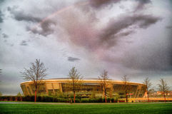 Stade d'arène de Donbass à Donetsk, Ukraine. Photos stock