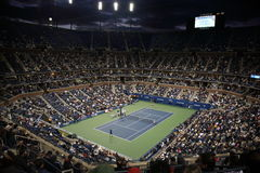 Stade d'Ashe - les USA ouvrent le tennis Photo libre de droits