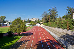Stade d'athlétisme photo libre de droits