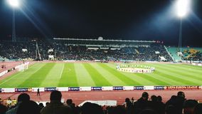 Stade d'Europa de Ligue de Football de Ludogoretz Latium Bulgarie Italie Photographie stock libre de droits