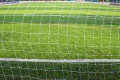 Stade d'herbe du football et de terrain de football Image libre de droits