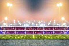 Stade dans les lumières Photo libre de droits